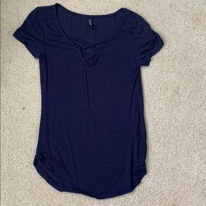 Navy blue vneck shirt